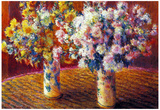 Claude Monet Two Vases with Chrysanthemums Art Print Poster Prints