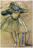 Edgar Degas Dancer Sketch Art Print Poster Prints