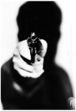 Handgun Silhouette Archival Photo Poster Print Posters