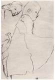 Egon Schiele (Sleeping girl) Art Poster Print Posters