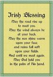 Irish Blessing Art Print Poster Plakater