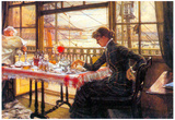 James Tissot Room with a Glance from the Port Art Print Poster Kunstdrucke