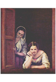 Bartolomé Esteban Perez Murillo (Girls at the Window) Art Poster Print Prints