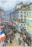 Childe Hassam The 14th July Rue Daunou Art Print Poster Posters
