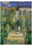 Claude Monet (Garden at Vetreuil) Art Poster Print Posters