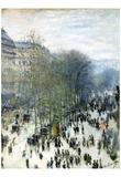 Claude Monet (Boulevard Des Capucines) Art Poster Print Photo
