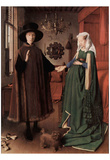 Jan van Eyck (Arnolfini Wedding, Wedding Picture of Giovanni Arnolfini and his wife Giovanna Cenami Poster
