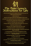 Dalai Lama (Instructions For Life) Art Poster Print Masterprint