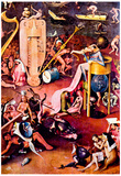 Hieronymus Bosch The Garden of Earthly Delights Hell Detail 7 Art Print Poster Posters