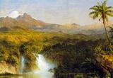 Frederick Edwin Church View of Cotopaxi Ecuador Detail Art Print Poster Masterprint