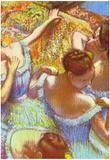 Edgar Degas Dancers in Blue Art Print Poster Prints
