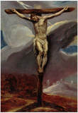 El Greco Christ at the Cross Art Print Poster Posters