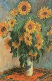 Claude Monet (Sunflowers) Art Poster Print Poster