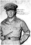 General Douglas MacArthur Quote Archival Photo Poster Print Prints