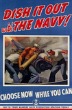 Dish It Out with the Navy WWII War Propaganda Art Print Poster Masterprint