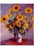 Claude Monet (Sunflowers) Art Poster Print Prints