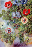 Claude Monet (Still-Life with Anemones) Art Poster Print Posters
