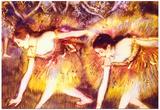 Edgar Degas Two Dancers Art Print Poster Posters