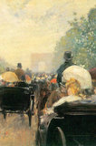 Childe Hassam Carriage Parade Art Print Poster Masterprint
