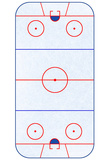 Hockey Rink Layout Sports Poster Fotografia