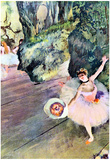 Edgar Degas Dancer with a Bouquet of Flowers Art Print Poster Prints