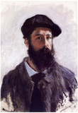 Claude Monet (Self-Portrait with a Beret) Art Poster Print Posters