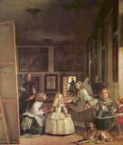 Diego Velazquez (Las Meninas (Self Portrait with the royal family)) Art Poster Print Masterprint