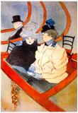 Henri de Toulouse-Lautrec The loge 2 Art Print Poster Print
