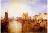 Joseph Mallord Turner Harbor of Dieppe Art Print Poster Posters