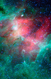 Cosmic Epic Unfolds Eagle Nebula  in Infrared Space Photo Art Poster Print Masterprint