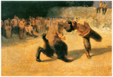 Franz von Stuck Fighting Faune 1 Art Print Poster Posters