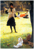 James Tissot Cricket Art Print Poster Poster