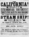 Gold Rush Handbill (California Direct, 1849) Art Poster Print Masterprint