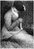 Georges Seurat Knitting Art Print Poster Poster