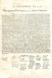 Declaration of Independence Authentic Reproduction Sepia Art Poster Print Masterprint