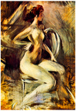 Giovanni Boldini Nude From the Side Art Print Poster Prints
