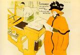 Henri de Toulouse-Lautrec Jane Avril Checking a Print Sample Art Print Poster Masterprint