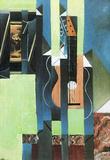 Juan Gris Guitar Still Life Art Poster Masterprint
