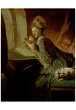 Jean-Honoré Fragonard (The love letter) Art Poster Print Posters