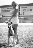Model With Greyhound 1966 Archival Photo Poster Prints