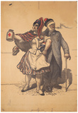 Marianne and Soldier Collect for the Red Cross WWI War Propaganda Art Print Poster Prints