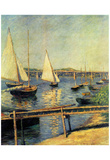 Gustave Caillebotte (Sailboats in Argenteuil) Art Poster Print Print