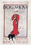 Mascoutah Kennel Club Dog Show Vintage Ad Poster Print Plakater