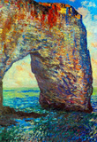 Claude Monet The Rocky Cliffs of Etretat La Porte Man 2 Art Print Poster Masterprint