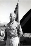 George Patton Flag Archival Photo Poster Print Poster