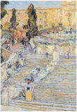 Childe Hassam The Spanish Steps Art Print Poster Posters