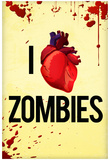 I Heart Zombies Art Poster Print Prints