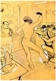 Henri de Toulouse-Lautrec Chocolat Dance Art Print Poster Posters