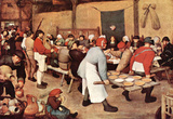 Pieter Bruegel Country Wedding Art Print Poster Masterprint