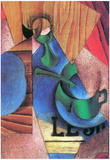 Juan Gris Glass Cup and Newspaper Cubism Art Print Poster Posters